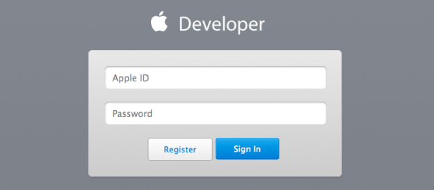 Apple email address and password.