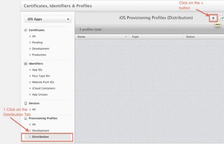 Distribution Provisioning Profile